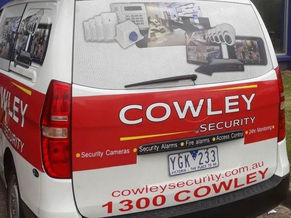 Cowley Security Van Back